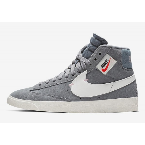 BQ4022-004 Nike Blazer Mid Rebel Grey Pink Women S...
