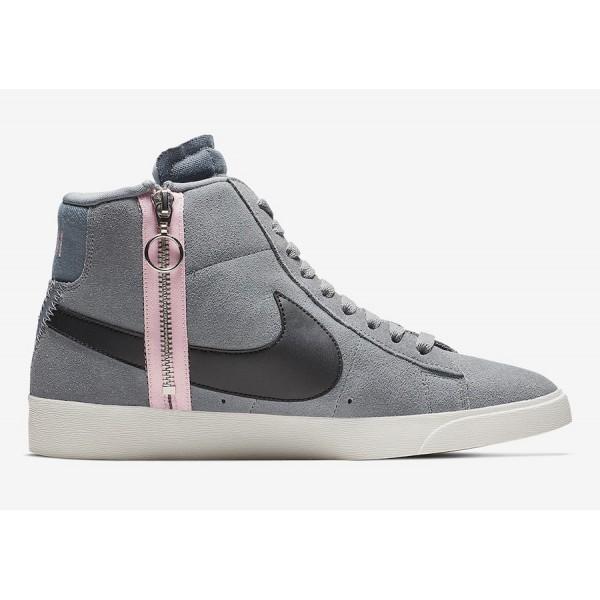 BQ4022-004 Nike Blazer Mid Rebel Grey Pink Women Shoes