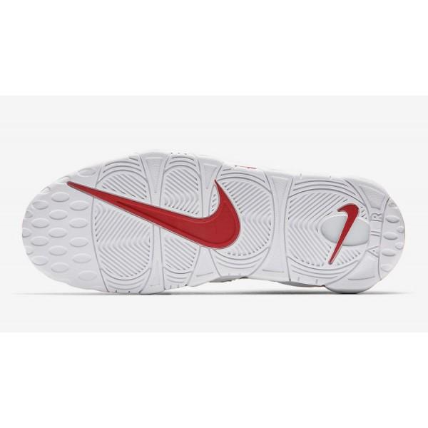 """AV7947-001 Nike Air More Uptempo """"Pinstripe"""" Black White Red Shoes"""
