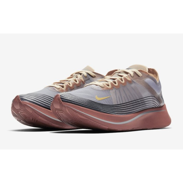 "AV7006-001 Nike Zoom Fly SP ""London"" Wolf Grey Desert Ore Men Shoes"