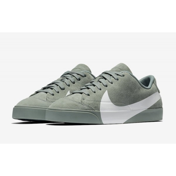 AV2253-300 Nike Blazer City Low XS Clay Green White Women Shoes