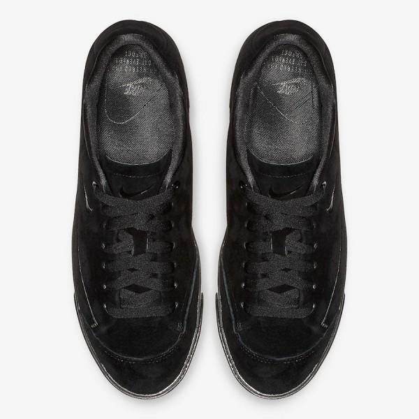 AV2253-002 Nike Blazer City Low XS Triple Black Women Shoes