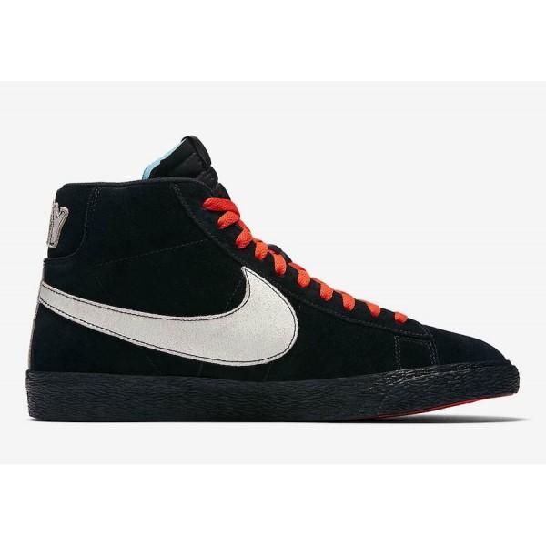 "AT9978-001 Nike Blazer Mid ""NYC Editions"" Black Blue Orange Men Shoes"