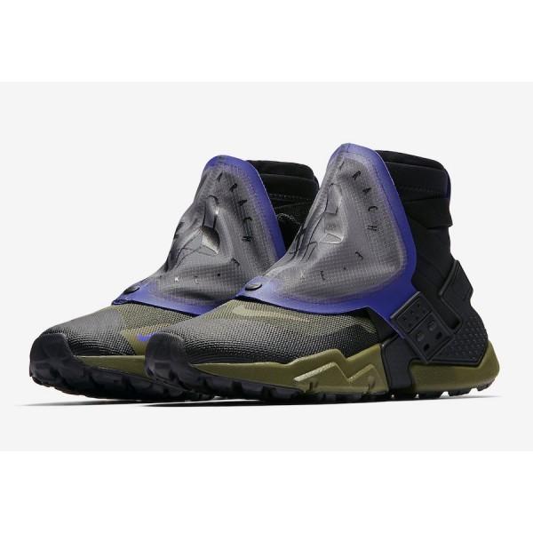 AT0298-001 Nike Air Huarache Gripp QS Black Olive Canvas Men Shoes