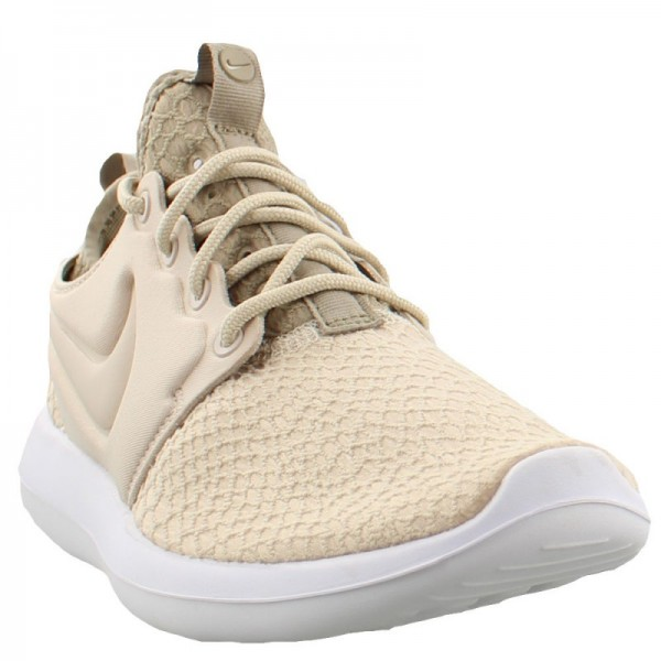 Nike Women Roshe Two Se Oatmeal Khaki White Shoes 881188-100