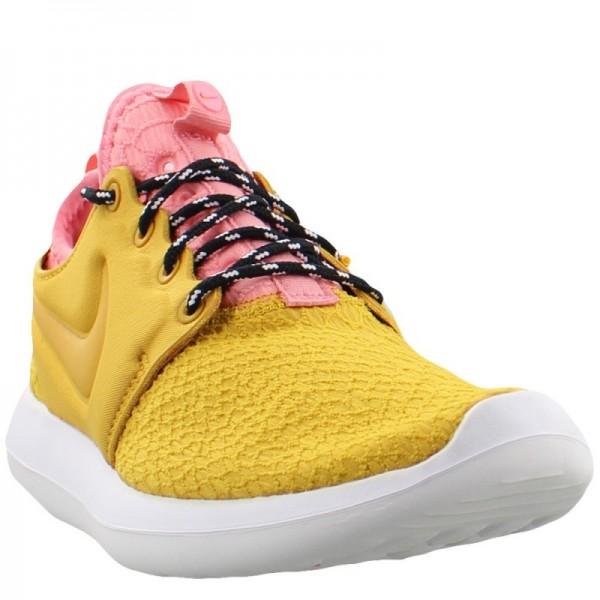 Nike Women Roshe Two SE Gold Pink Shoes 881188-700