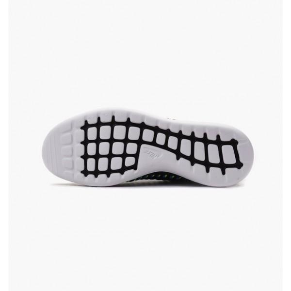 Nike Women Roshe Two Ii Flyknit Black Blue Shoes 844929-003