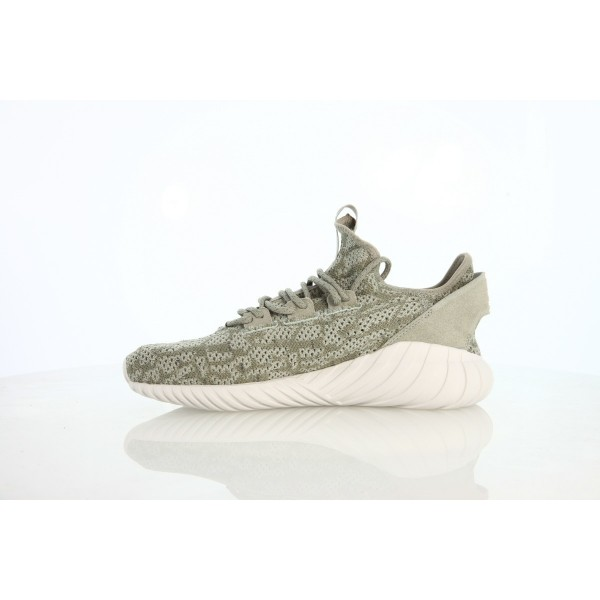 Adidas Men Originals Tubular Doom Sock Primeknit Beige White Shoes BY3561