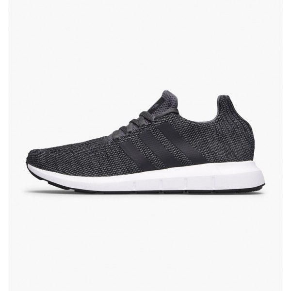 Adidas Men Originals Swift Run Grey Four Black White Shoes CG4116