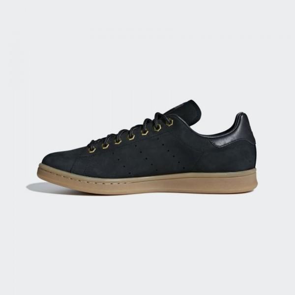 Adidas Men Originals Stan Smith WP Black Gum B3787...
