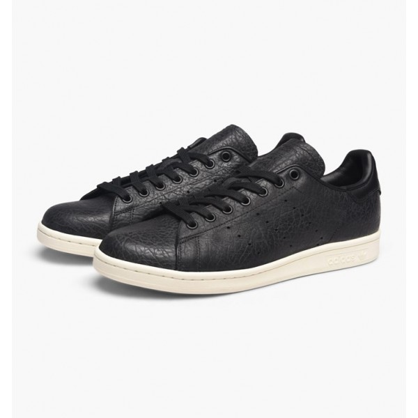 Adidas Men Originals Stan Smith Quilted Leather Black White Shoes BB0037