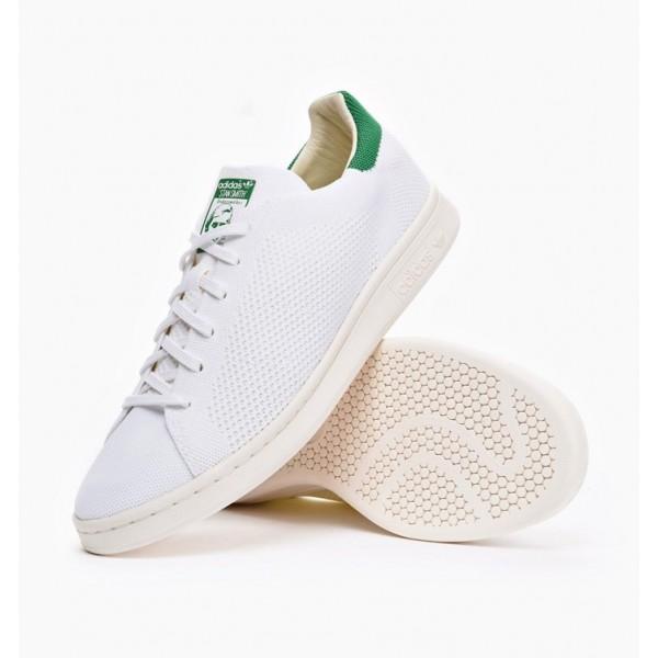 Adidas Men Originals Stan Smith Primeknit White Green Shoes S75146