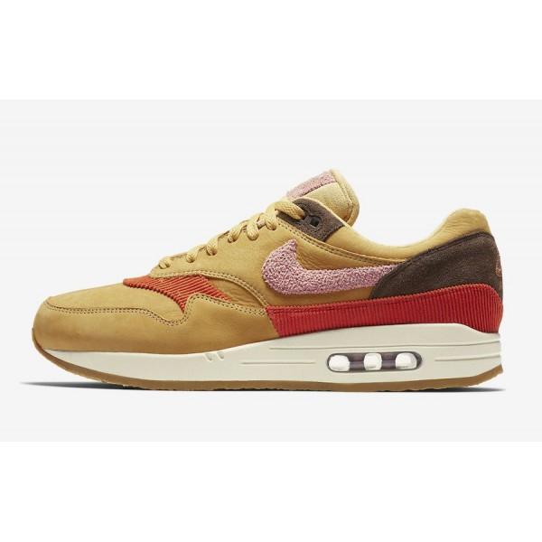 CD7861-700 Nike Air Max 1 Premium Wheat Gold Rust ...