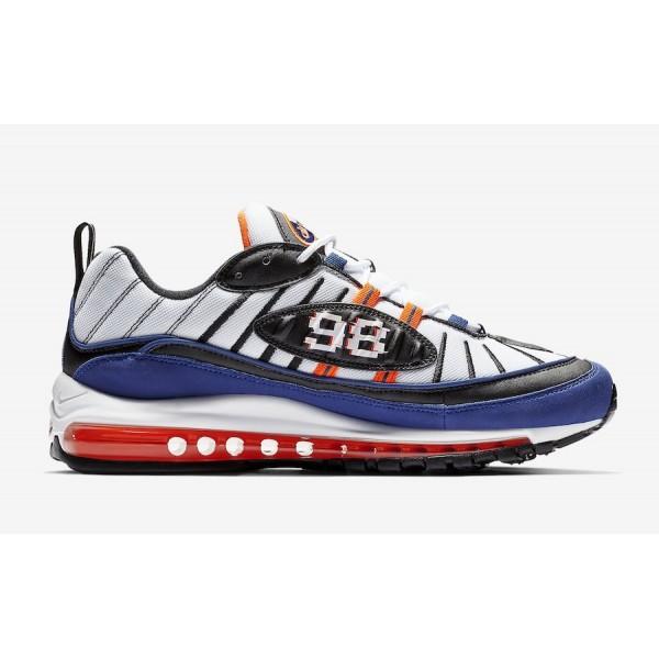 CD1536-100 Nike Air Max 98 White Deep Royal Blue Shoes