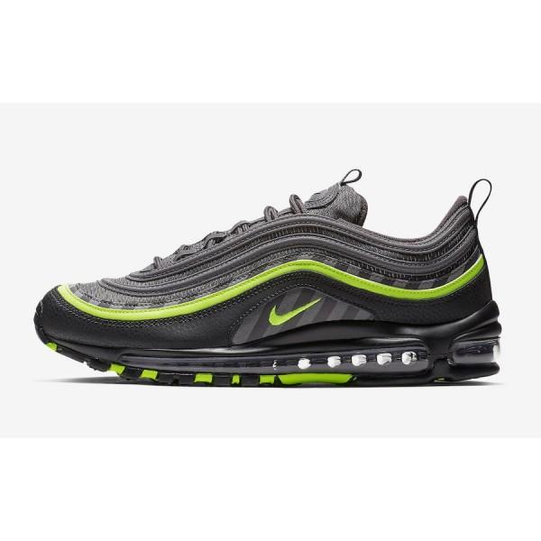 BV6057-001 Nike Air Max 97 Thunder Grey Lime Blast Men Shoes