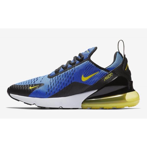 BV2517-400 Nike Air Max 270 Game Royal Dynamic Yellow Men Shoes