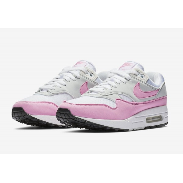 BV1981-101 Nike Air Max 1 White Psychic Pink Women Shoes
