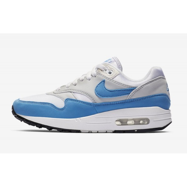 BV1981-100 Nike Air Max 1 White Baby Blue Grey Wom...