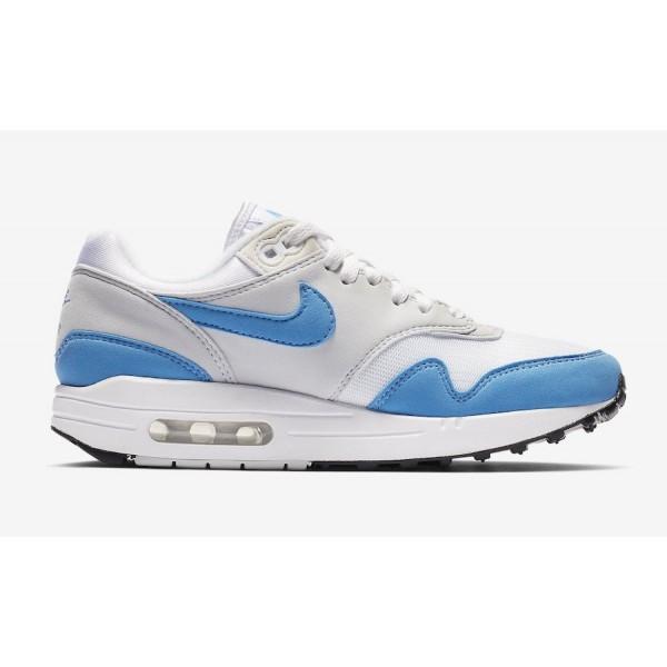 BV1981-100 Nike Air Max 1 White Baby Blue Grey Women Shoes