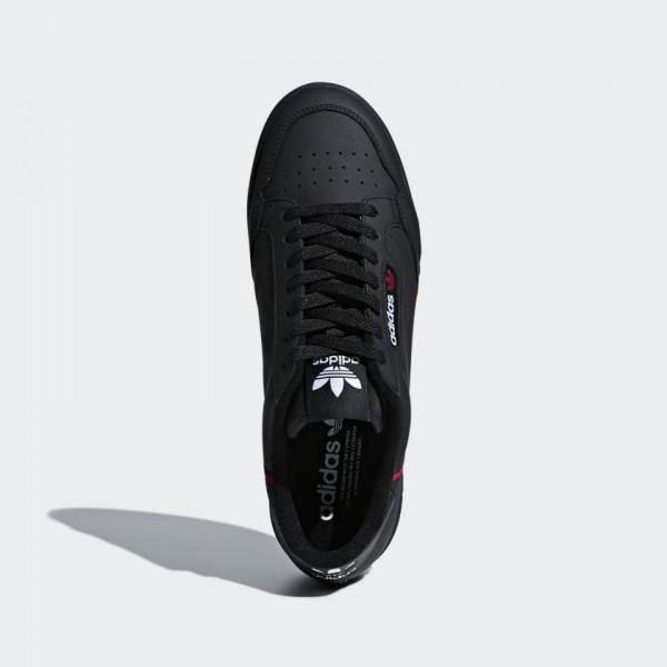 Adidas Men Originals Continental 80 Black Scarlet Navy B41672