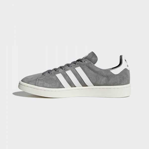 Adidas Men Originals Campus Trainers Grey White BZ...