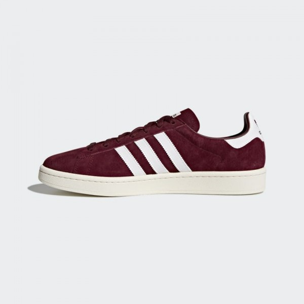 Adidas Men Originals Campus Burgundy White BZ0087