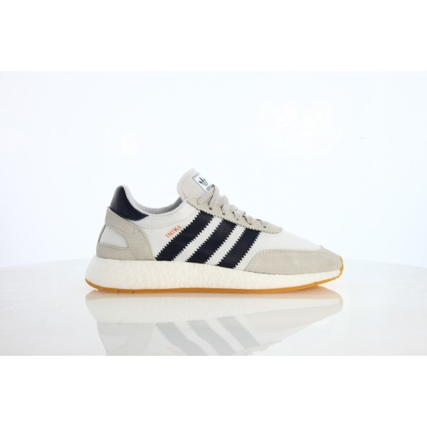 Adidas Men Iniki Runner White Navy Brown Running S...