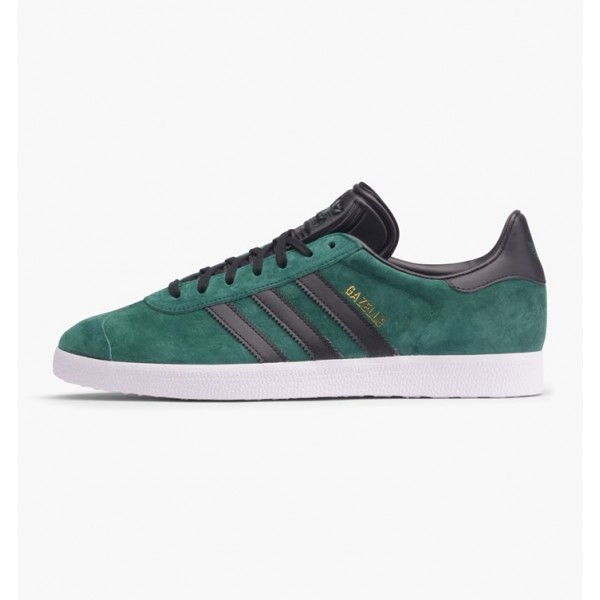 Adidas Men Gazelle Green Black Gold Shoes BB5487