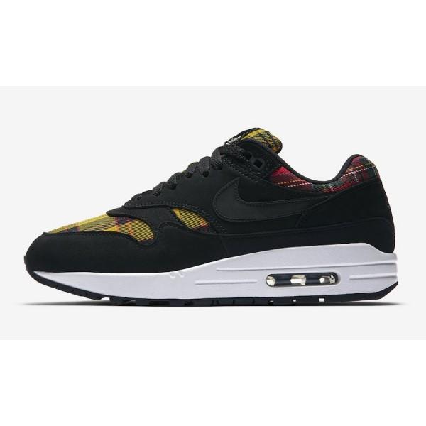 AV8219-001 Nike Air Max 1 SE Black Red Amarillo Women Shoes