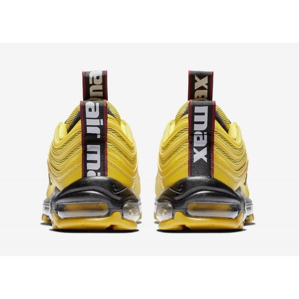AV8368-700 Nike Air Max 97 Premium Bright Citron Black Men Shoes