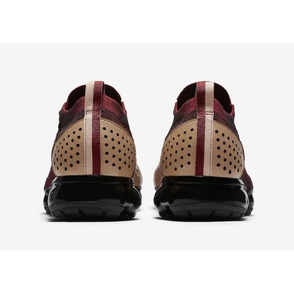 AT8955-600 Nike Air VaporMax Flyknit 2 NRG Team Red Tan Men Shoes