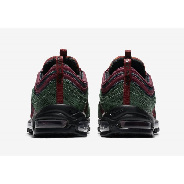 AT6145-600 Nike Air Max 97 NRG Team Red Midnight Spruce Men Shoes