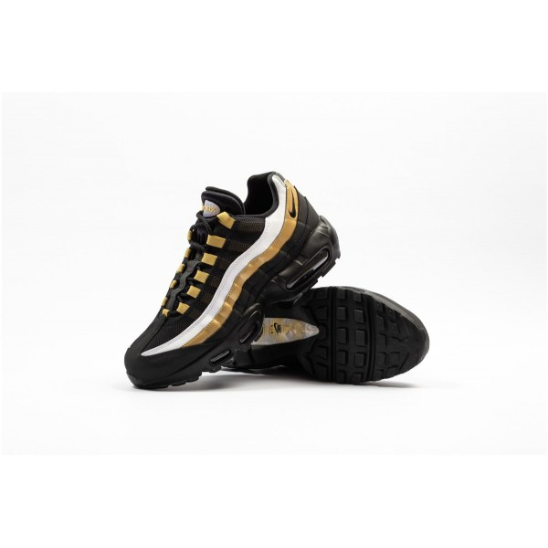 AT2865-002 Nike Air Max 95 Black Metallic Gold Men Shoes