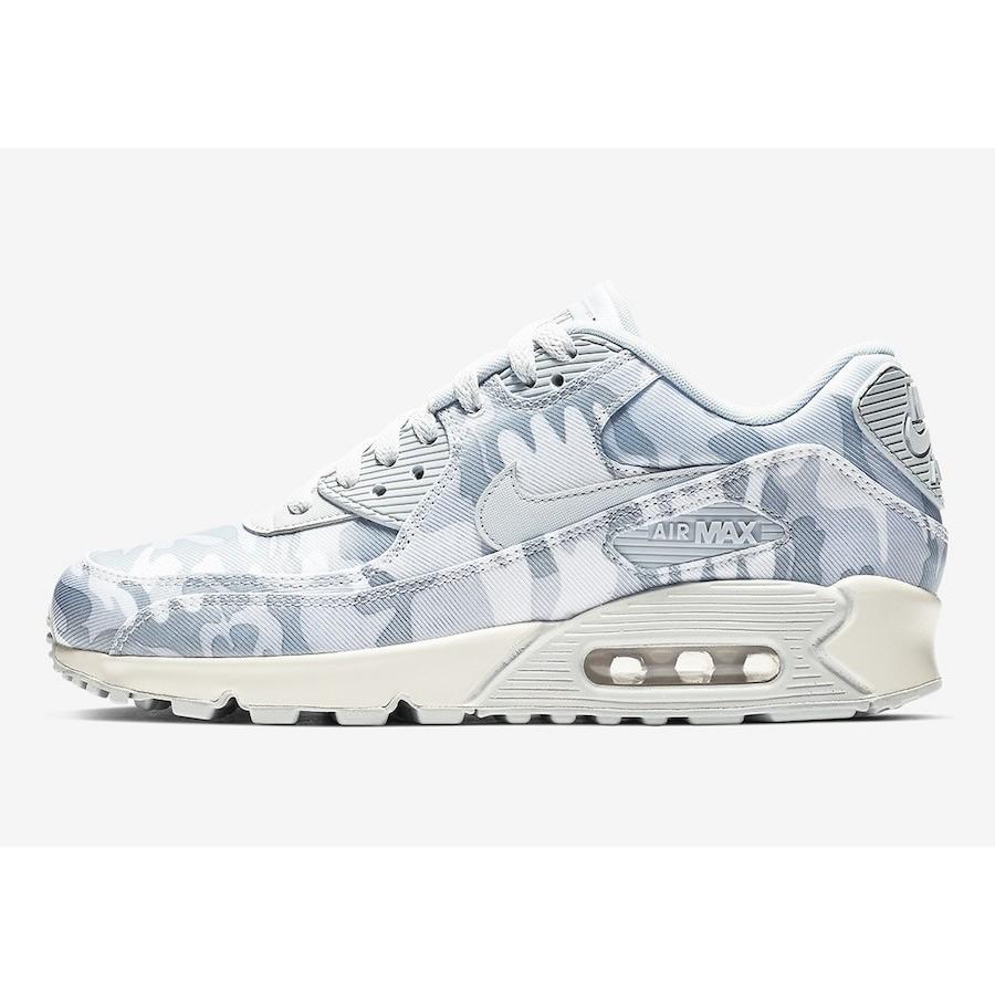 6452a46b51 Nike Unisex Air Max 90 Pure Platinum/Summit White Shoes AQ9721-001