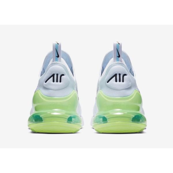 AQ9164-100 Nike Air Max 270 White Explosion Green Yellow Men Shoes