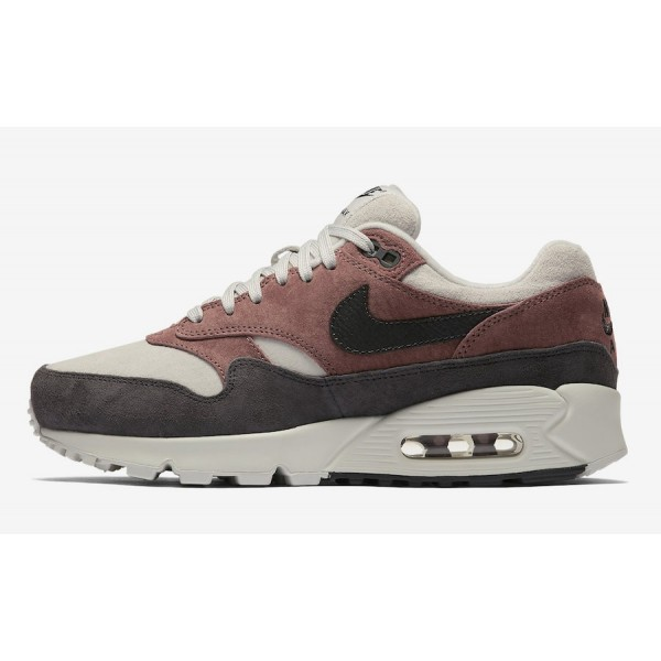 AQ1273-200 Nike Air Max 90/1 Red Sepia Grey Women ...