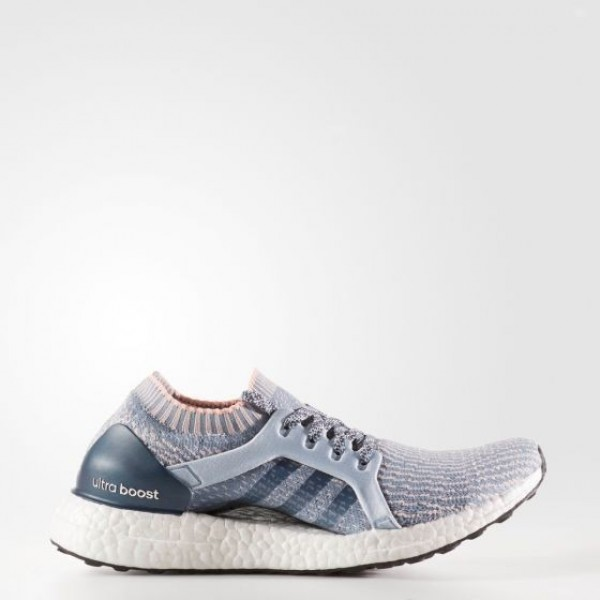 Adidas Women Ultraboost X Blue Pink White Running Shoes BB1693