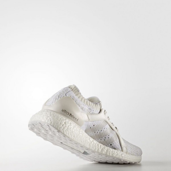 Adidas Women Ultra Boost X White Silver Running Shoes BB0879