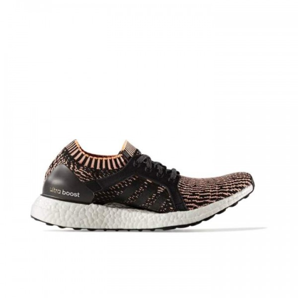 Adidas Women Ultra Boost X Black Orange Running Sh...