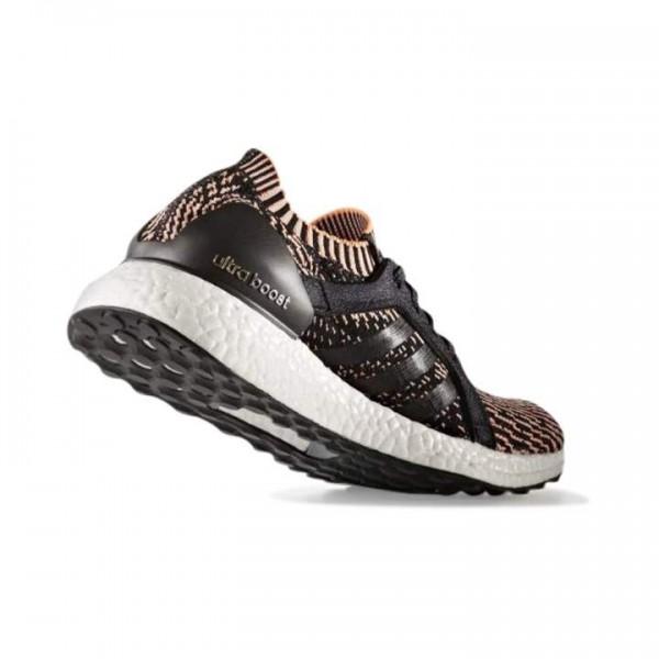 Adidas Women Ultra Boost X Black Orange Running Shoes BA8278