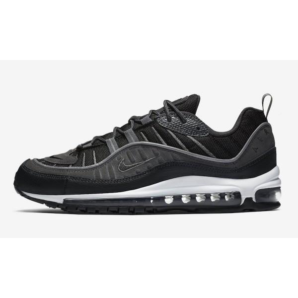 AO9380-001 Nike Air Max 98 SE Black Anthracite White Men Shoes