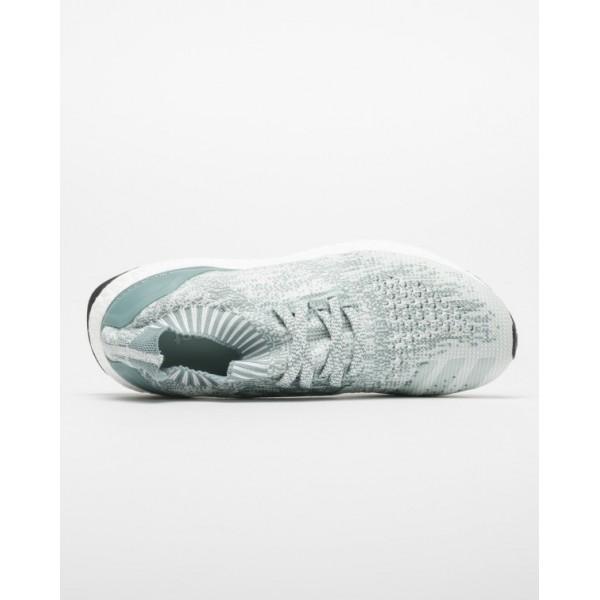 Adidas Women Ultra Boost UncagedWhite Green Shoes BB3905