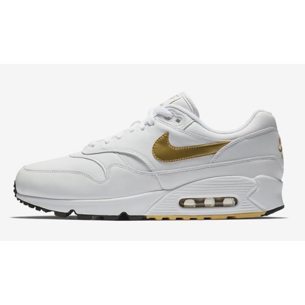 AJ7695-102 Nike Air Max 90/1 White Metallic Gold M...