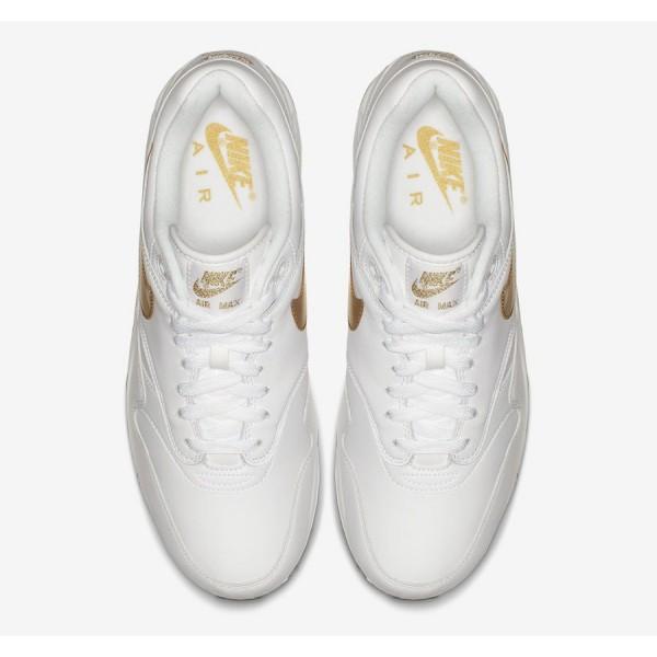 AJ7695-102 Nike Air Max 90/1 White Metallic Gold Men Shoes