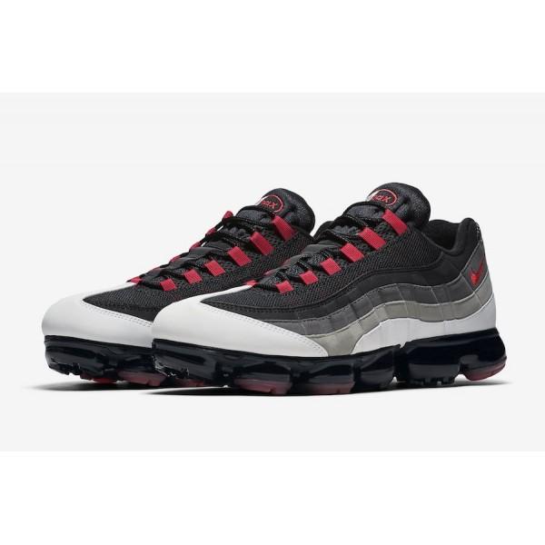 AJ7292-101 Nike Air VaporMax 95 White Hot Red Men Shoes