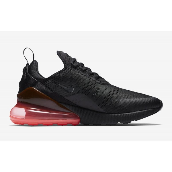 AH8050-010 Nike Air Max 270 Black/Hot Punch Shoes