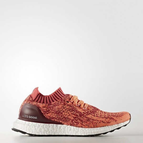 Adidas Women Ultra Boost Uncaged Burgundy Orange S...
