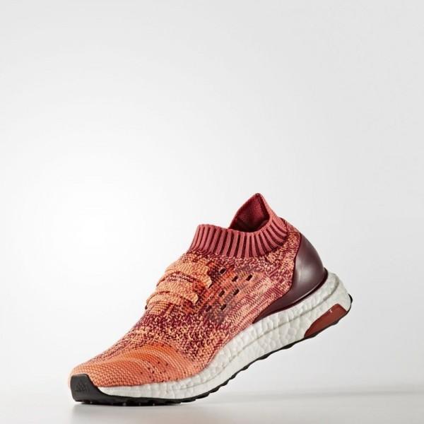 Adidas Women Ultra Boost Uncaged Burgundy Orange Shoes BA9797