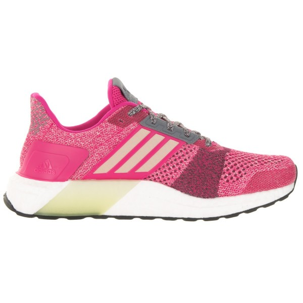 Adidas Women Ultra Boost ST Pink Red Running Shoes AF6525