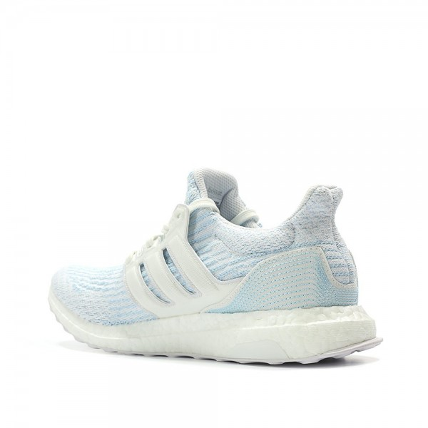 Adidas Men Ultraboost 3.0 Parley White Blue Shoes CP9685